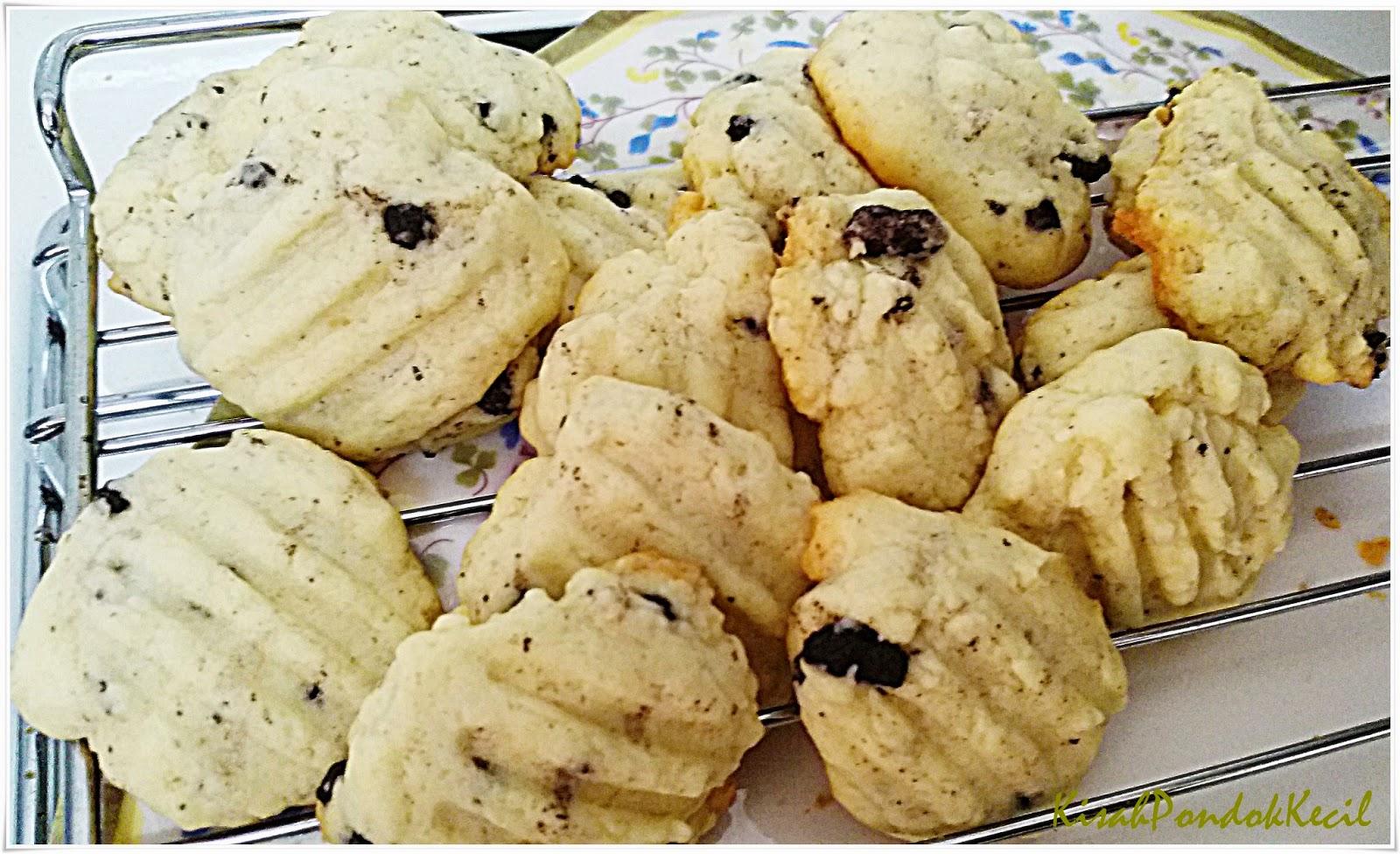 Vanilla Cookies Simple Kudapan Minum Petang