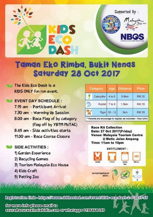 Jom Sertai KIDS ECO DASH Fun Run Kanak-kanak