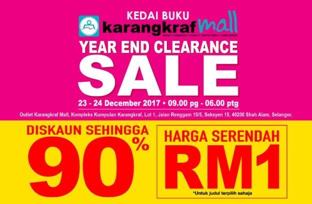 Harga Serendah RM1 ... Jualan Cuci Gudang Karangkraf Mall