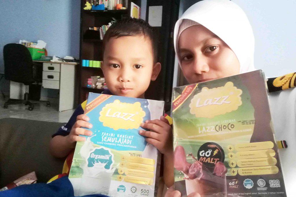 Lazz Susu Kambing produk terbaik untuk kanak kanak