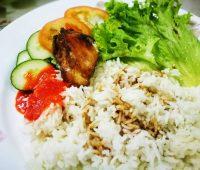 nasi ayam simple , mudah dan sedap .