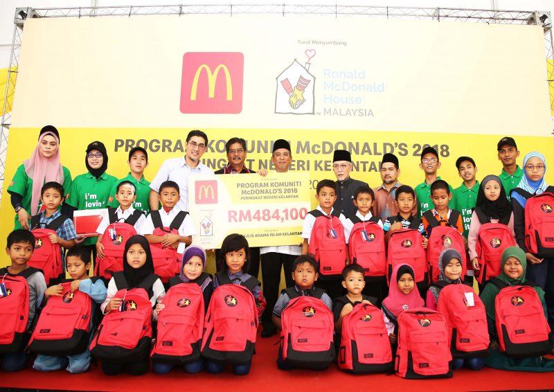 McDonald's Malaysia Hulur Sumbangan ke Pantai Timur