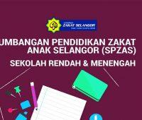 Sumbangan Pendidikan Zakat Anak Selangor (SPZAS) Untuk Bukan Asnaf Fakir Miskin Sekolah Rendah dan Menengah