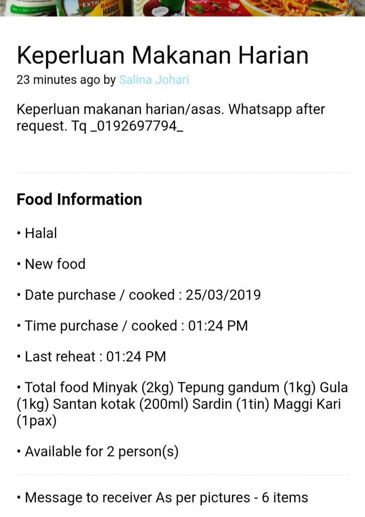 Oh Free Food Aplikasi Mudah Sumbang Makanan