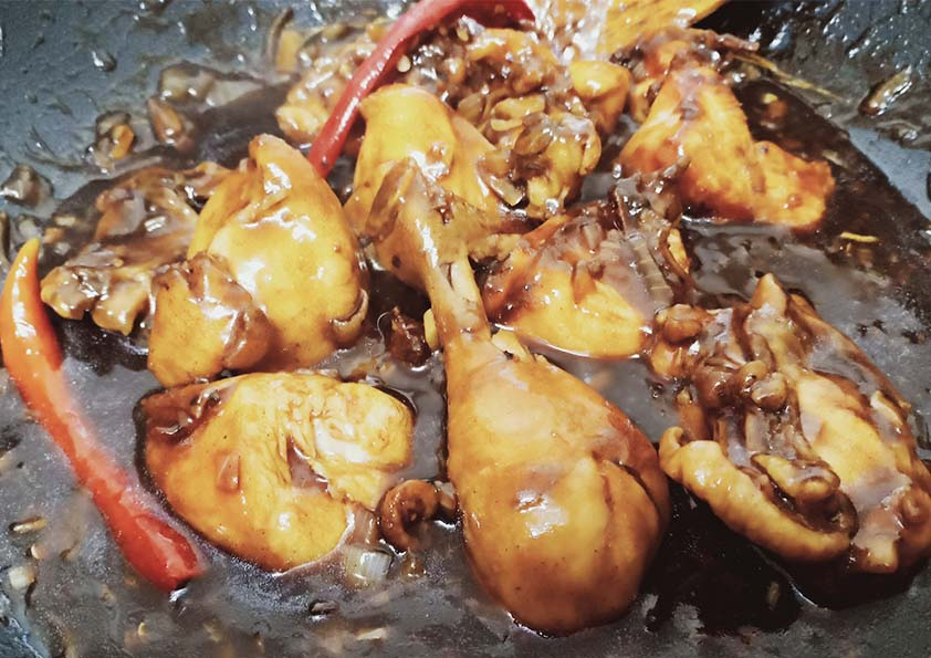 Ayam Masak Lada Hitam Resipi Mudah