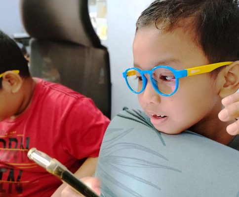 Kids Eyewear Safer Optics Anti Blue Light Glasses Lindung Mata Anak