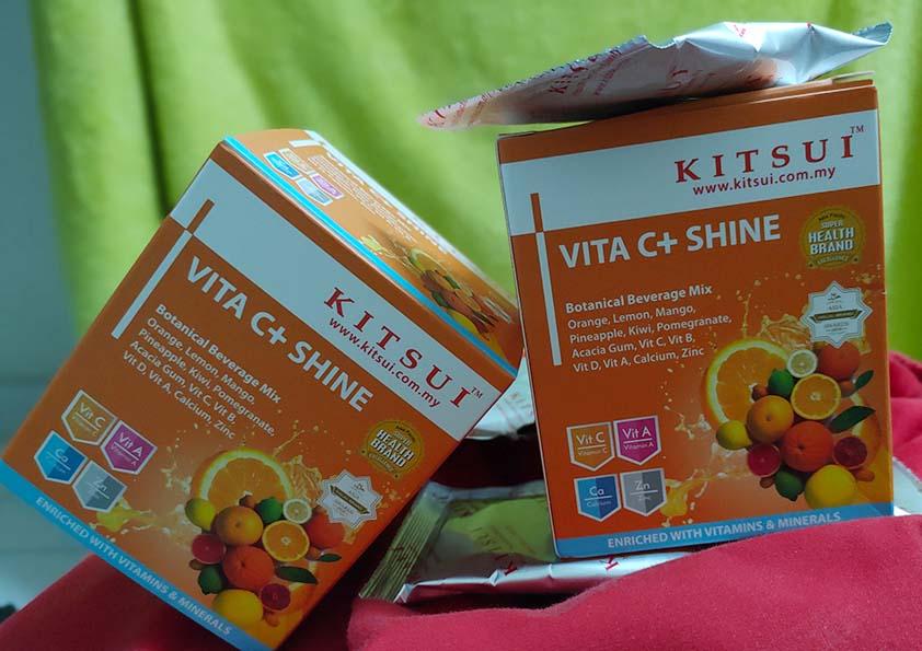 Kitsui Vitamin C+ Shine 1000mg Menjadikan Badan Lebih Sihat