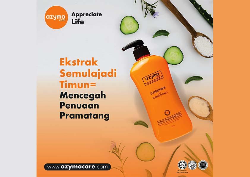 AzymaCare Body Wash Yakin Bersih Sepanjang Pandemik